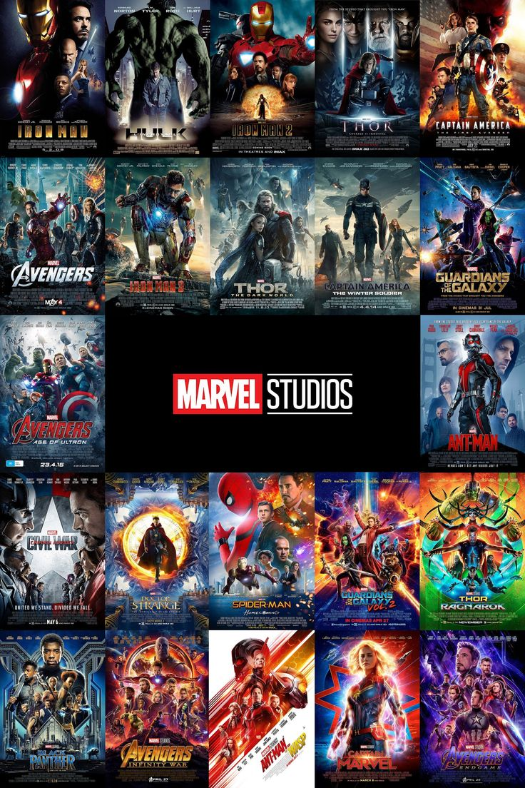 All 22 marvel mcu movie posters on one poster phase 1 2