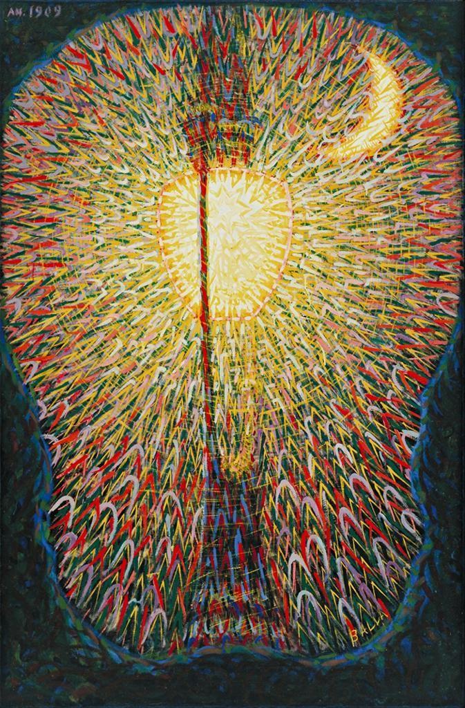 Futurism Artwork  Street Light (1910-11) -   Giacomo Balla