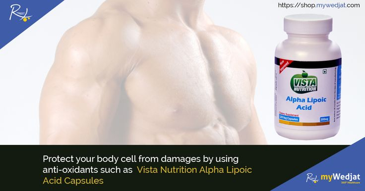 Protect your body cell from damages by using anti-oxidants such as Vista Nutrition Alpha Lipoic Acid Capsules  #myWedjat #Anti-oxidants