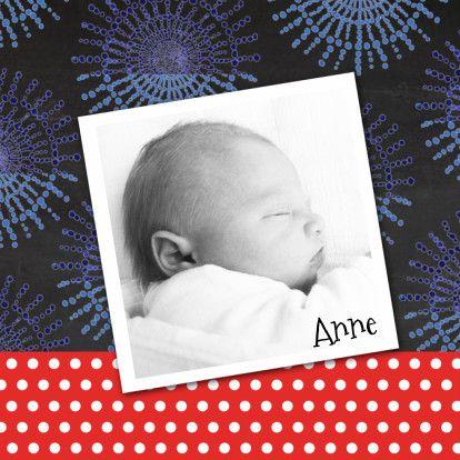 Geboortekaartje foto schoolbord - Geboortekaartjes - Kaartje2go
