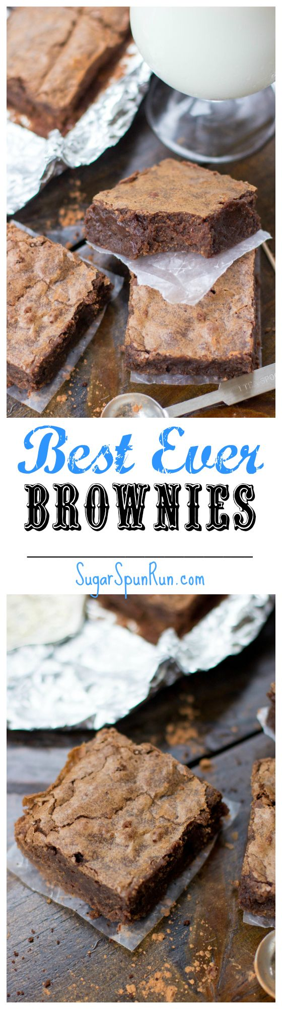 These are seriously the best brownies I've ever tasted!