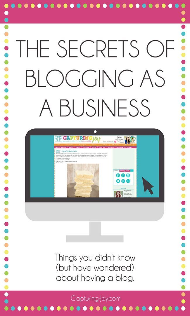 The Secrets of Blogging as a Business Part II, with tips on photography, pageviews, ways to make money, and social media.