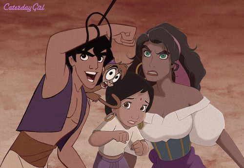 Disney Crossover -- The longer I look at this, the more I like the pairing. And she would totally be their daughter too!