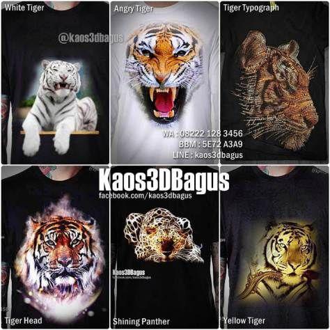 Kaos HARIMAU, Kaos MACAN, Kaos Gambar HARIMAU, Kaos PANTHER 3D, Kaos Macan…