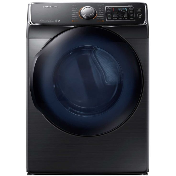 Samsung DV50K7500E 27 Inch Wide 7.5 Cu. Ft. Energy Star Rated Electric Dryer wit Black Stainless Steel Dryers Dryer Electric