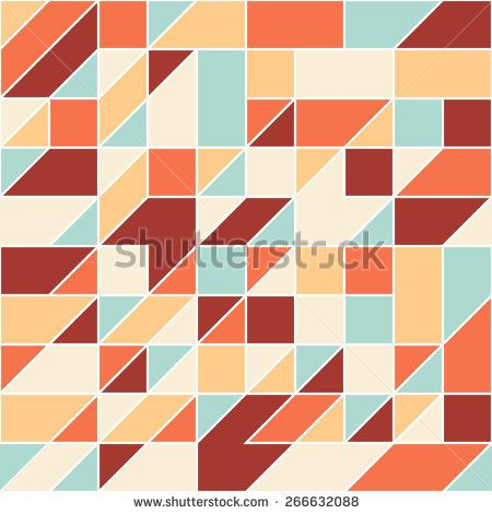 Modern seamless pattern with colorful triangles and squares. #geometricpattern #vectorpattern #patterndesign #seamlesspattern