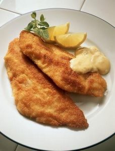 Panko Crusted Fish Fillet... I made this using Swai fish and just the panko bread crumbs. Delicious.