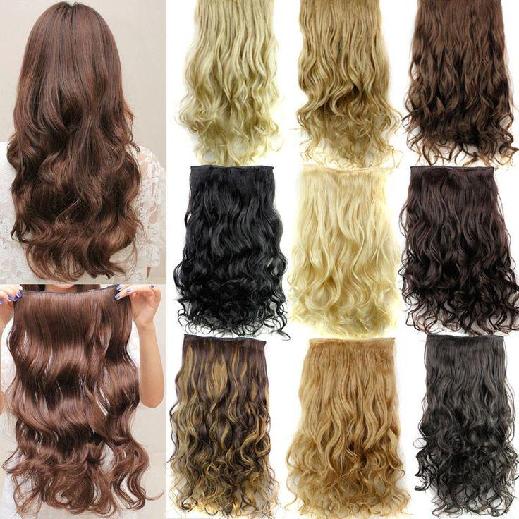 Guess fashions women Long 24inch 60cm 5 Clip in On Curly Hair Extensions Synthetic false Hairpiece blonde secret hair pad pieces -- Haga clic en la VISITA botón para averiguar más