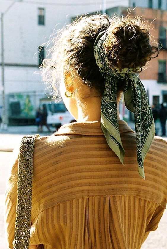 Head Scarf and Bow Hairstyle - #hairstyle #scarf - #frisuren