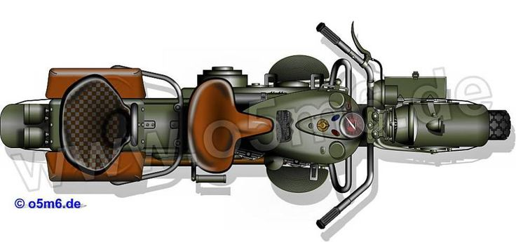 Engines of the Red Army in WW2 - Harley-Davidson 42WLA Motorcycle