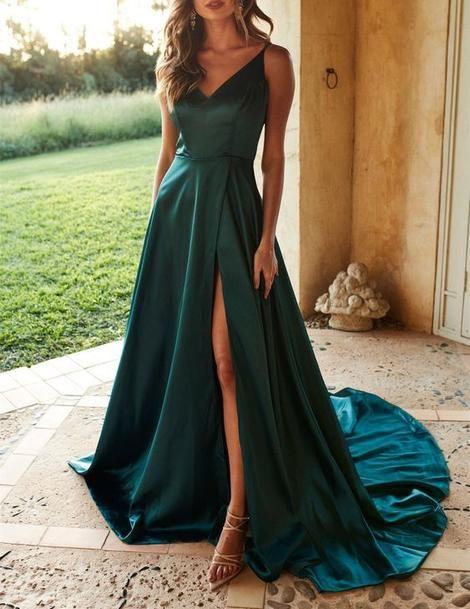 Chic Dark Green Long Prom Dress 7468498e5