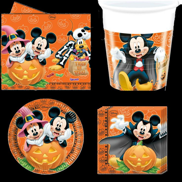 mickey mouse halloween set disney birthday party tableware pack - Halloween Decorations For A Party