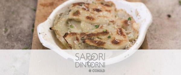 Finocchi gratinati al forno con castelmagno Dop e besciamella