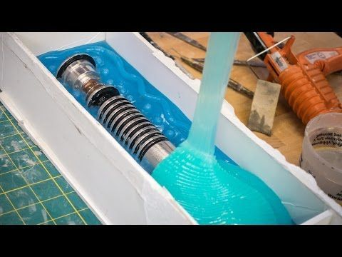 How to Mold and Cast a Lightsaber! - YouTube