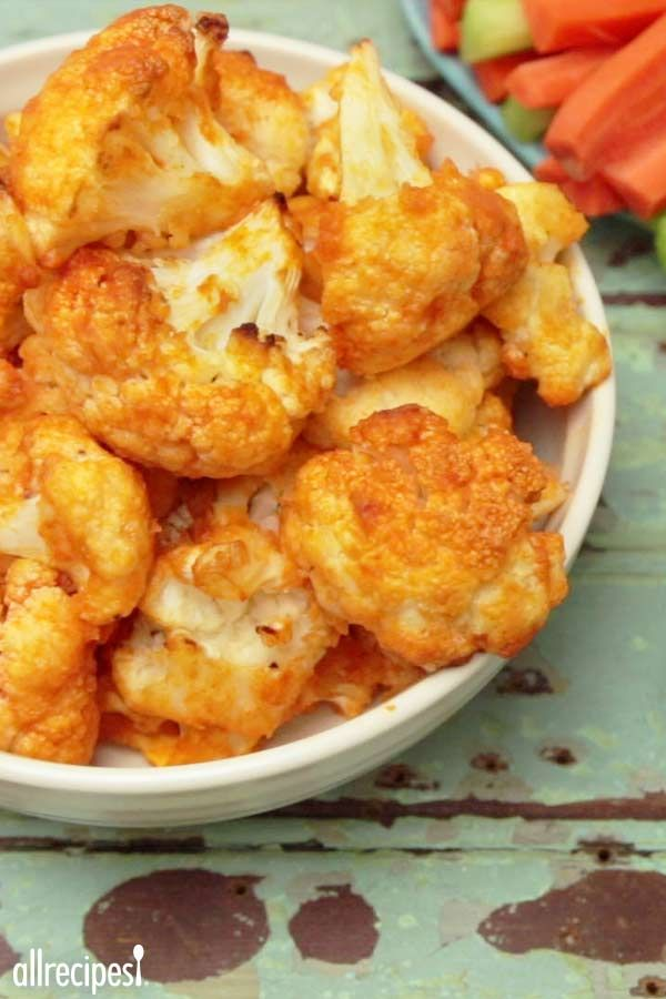 "Buffalo Cauliflower |  ""Excellent healthy vegetarian alternative to buffalo chicken, and healthy too!!! """