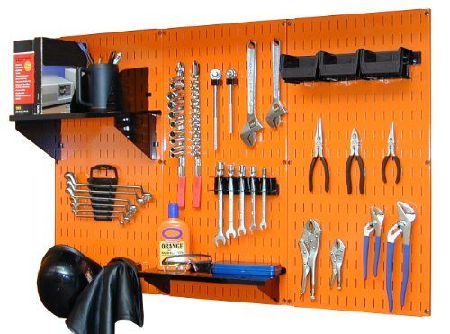 Wall Control 4 ft Metal Pegboard Standard Tool Storage Kit with Orange Toolboard and Black Accessories by Wall Control, http://www.amazon.com/dp/B00ANOVR1E/ref=cm_sw_r_pi_dp_qLufrb1J7GN6W