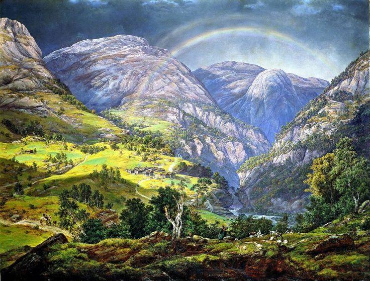 View from Stalheim , 1842 // J. C. Dahl (Norwegian: Fra Stalheim)