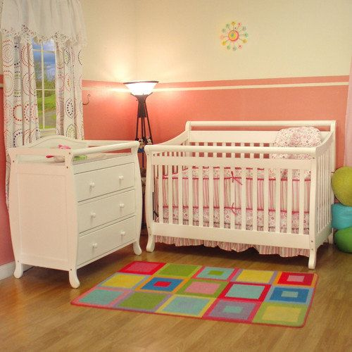 Afg Furniture Amy 3 In 1 Convertible Crib Set Nursery Furniture Baby