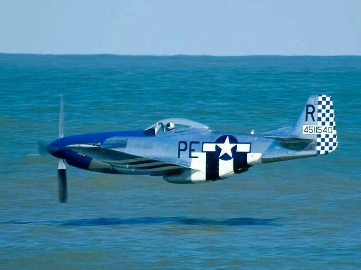 P-51 Low pass!