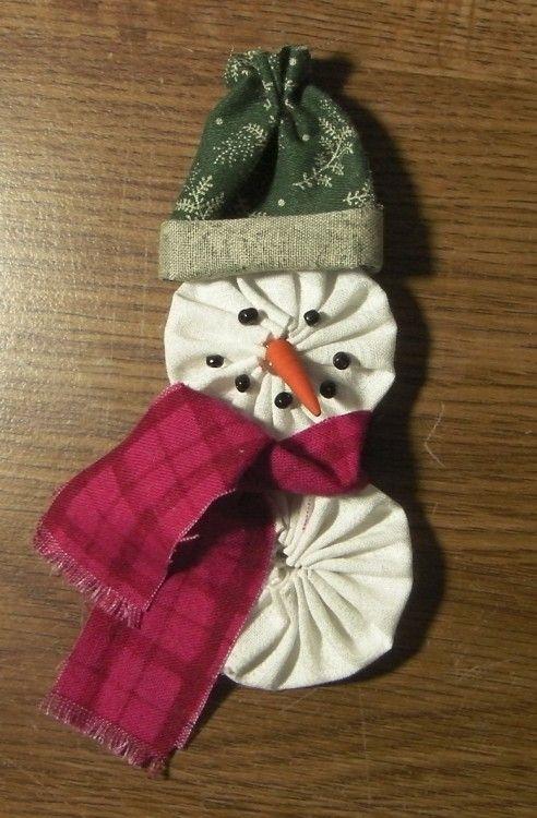 ;o)  yo-yo snowman pattern