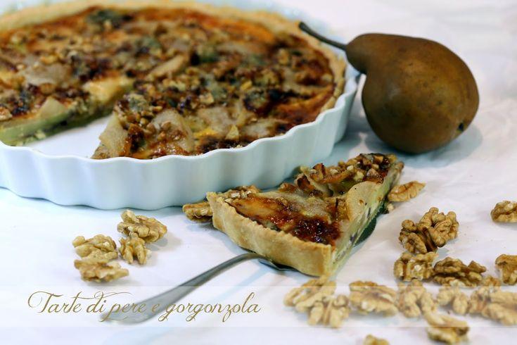 Gorgonzola-Birnen-Tarte, Quiche mit Birnen