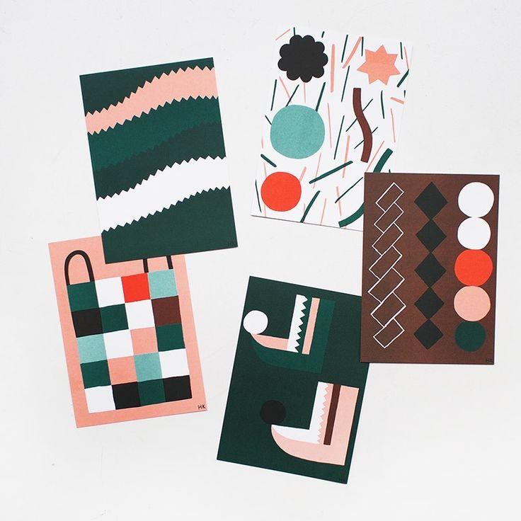 HANNA KONOLA - HALLA #print #design #minto #color_combo #color_inspiration