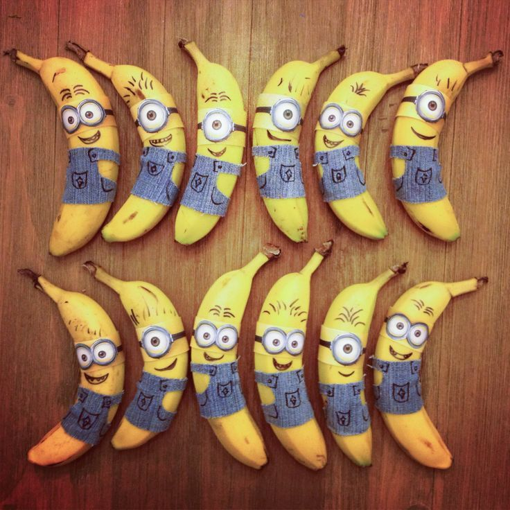 minion party ideas for boys | Minion decorated whole bananas for toddler party! (Fun healthy snacks ...