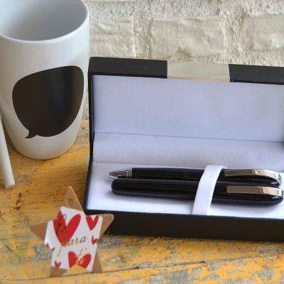 Taza Mensaje con viñeta de pizarra para escribir mensajito 4,50€