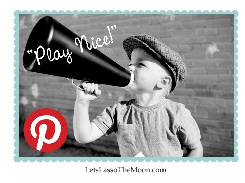 {10 Tips for Playing on Pinterest} Do you have any tips for playing on Pinterest beyond on these? Let's chat in the comments. We are also excited to share with you a list of Pinterest friendly blogs to check out & safely pin, pin, pin from!