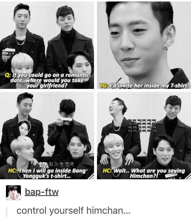 B.A.P funny Himchan & Yongguk BangHim is real | Get in line Himchan haha