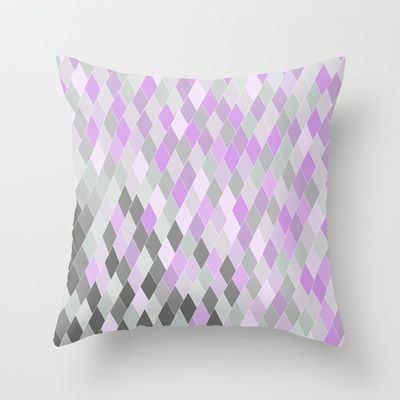 Clouds Amongst the Lavender Throw Pillow by BadgerBlossom - $20.00
