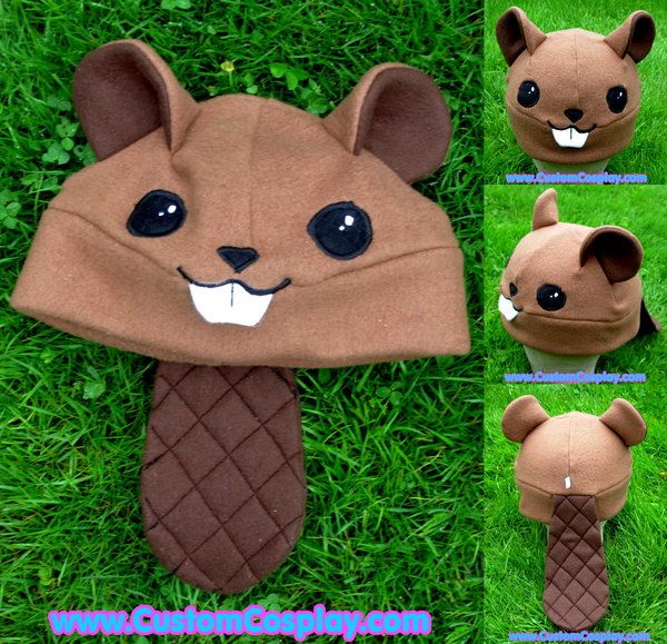 Fleece beaver hat with tail by =The-Cute-Storm on deviantART