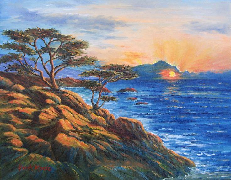 Sunset in Monterey Coastline