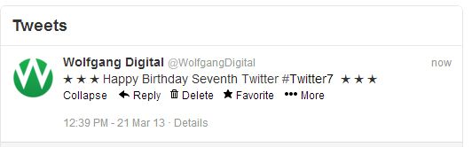 Happy Birthday Twitter from Wolfgang Digital | Irelands leading AdWords and Content Marketing Agency