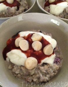 spiced berry pear overnight oats