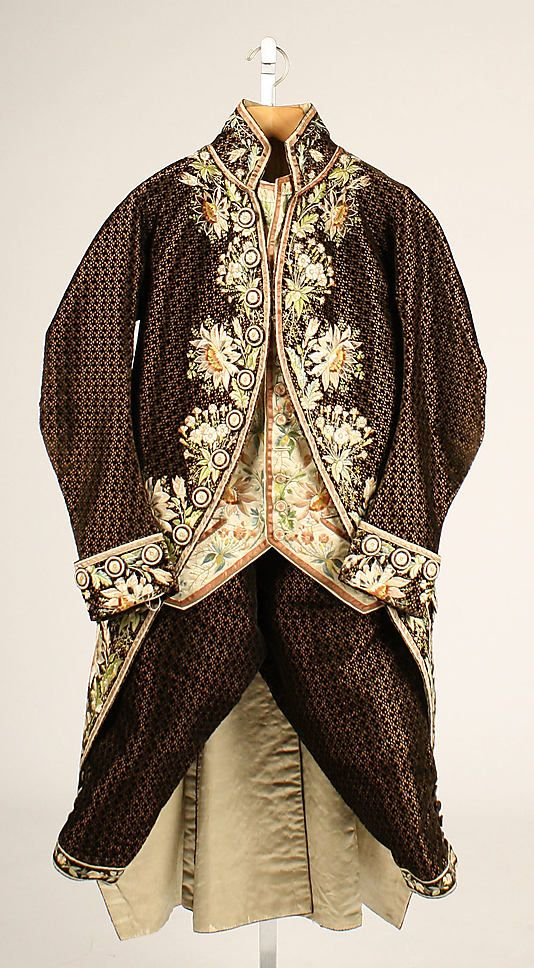 Court Suit 1774-93  The Metropolitan Museum of ArtHistory, Court Wear, Fashion, French Silk, Costumes Closets, Costumes Ideas, Formal Suits, Court Suits, Vintage Clothing