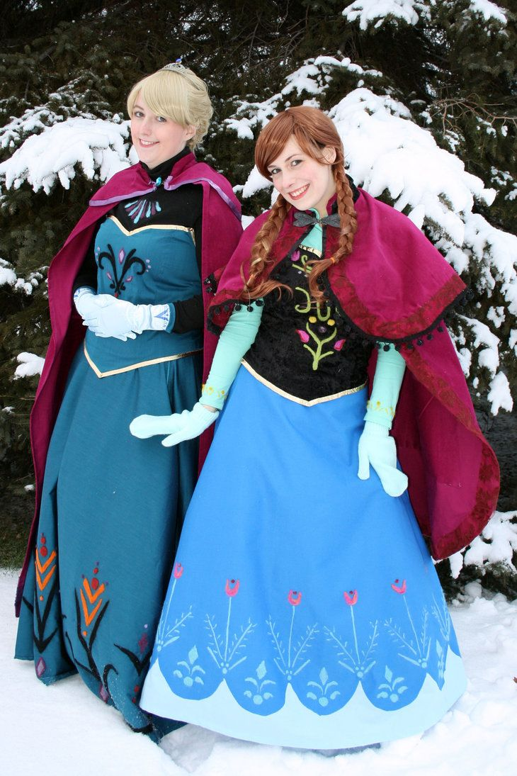 Elsa and anna 1 by mystic fae frozen cosplay cosplay dress up time