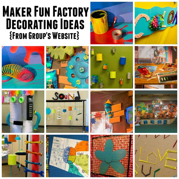 Group Publishing VBS 2017 - Maker Fun Factory - Decorating Ideas - BorrowedBlessings.net - Borrowed BlessingsBorrowed Blessings
