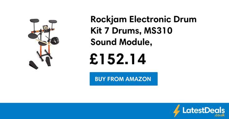 Rockjam Electronic Drum Kit 7 Drums, MS310 Sound Module, Headphones Save £98.75, £152.14 at Amazon