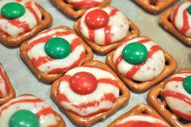 Little Birdie Secrets: holiday pretzel kisses {last mintute christmas treats}