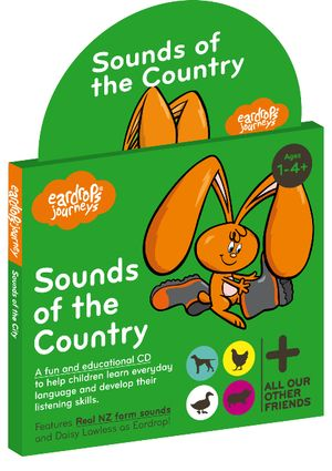 Eardrop's Journey: Sounds of the Country, a half hour fun story for young children that features 30 real world sounds to learn. Featuring Roger Green as 'The Farmer' and Daisy Lawless as 'Eardrop'.