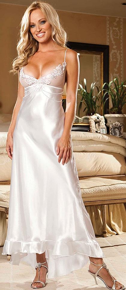 145 best nightdress images on pinterest silk chemise for Lingerie for wedding dress