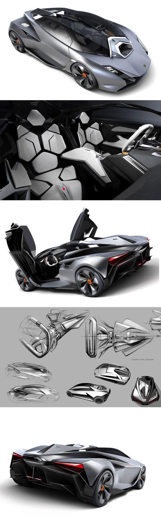 Lamborghini Perdigon | design sketches & 3D renderings