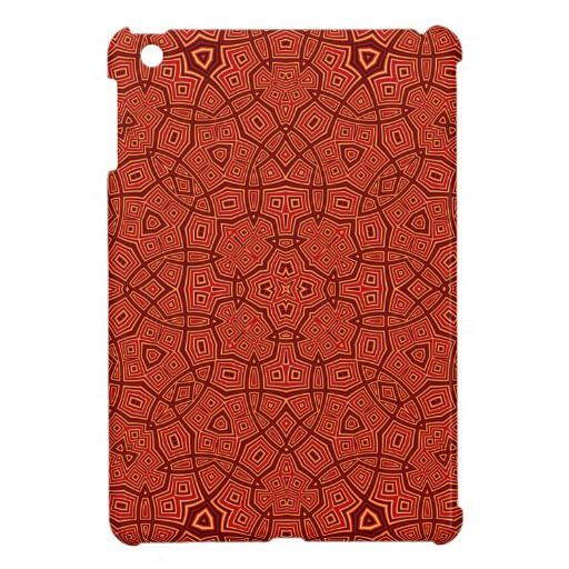 Red Abstract Pattern iPad Mini Cases