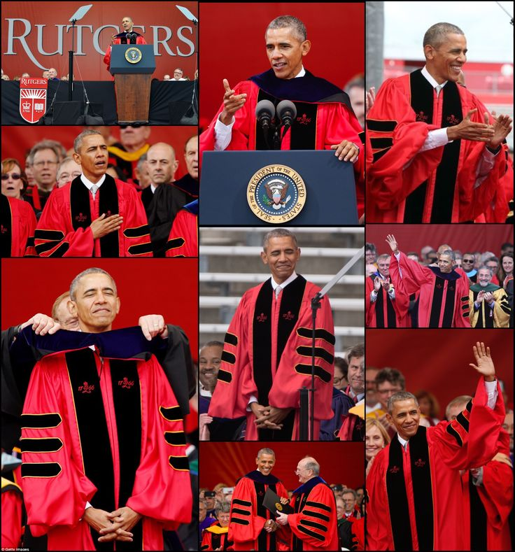 #OBAMA #HISTORY This is the #FIRST time a #sitting #President has spoken at the #RutgersUniversity #School #Commencement LAST#COMMENCEMENT #SPEECH #May15th #2016 AS #PRESIDENT br> #44thPresident #BarackObama delivered the commencement address Sunday May 15, 2016 at #Rutgers #University in New Jersey, on the 250th anniversary of the school's founding. It's one of the #last times President Barack Obama will speak to a #graduatingclass while he's in office.