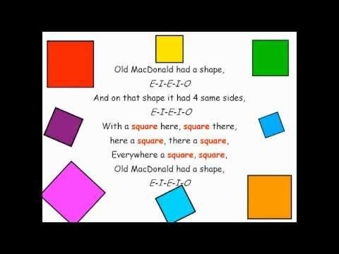 Shape song to the tune of Old MacDonald. Good for KS1, Foundation Stage and Special Resources Base classes.