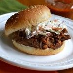 Meal Planning Made Simple: Crockpot BBQ Pork Sandwiches ( Great recipe, super simple, entire family loved it, a couple of the kids even loved the slaw. I LOVED the slaw on it, a great new twist. To make the Slaw, I actually just chopped up cabbage, grated carrot, added a little mayo and then some italian dressing, mixed and walla! It was great. dd)