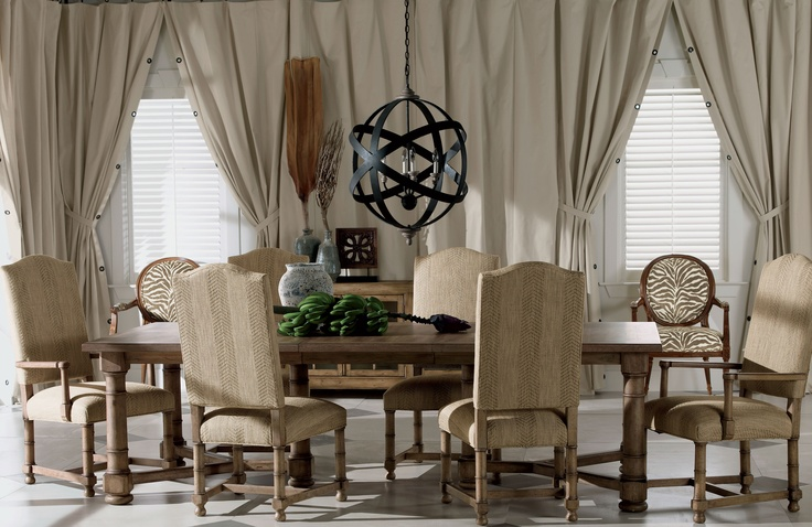 Safari so good cotton duck panels with grommet details for Casual dining room curtain ideas