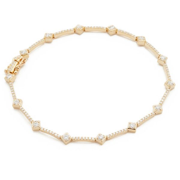 EF Collection 14k Diamond Eternity Bracelet ($3,385) ❤ liked on Polyvore featuring jewelry, bracelets, yellow gold, 14k jewelry, 14k bangle, ef collection jewelry, 14 karat gold jewelry and snap button jewelry