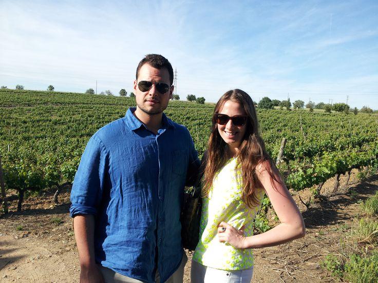 Walking between the vineyards on Estremoz Alentejo